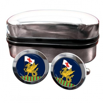 243 Field Hussars (British Army) Round Cufflinks