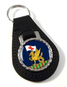 243 Field Hospital Leather Key Fob