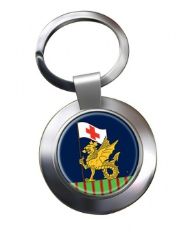 243 Field Hospital Chrome Key Ring