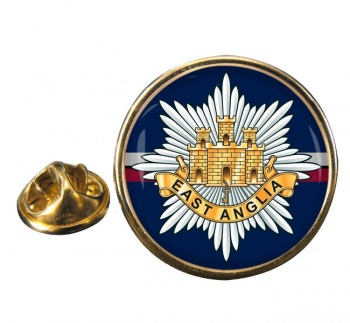 2nd East Anglian Regiment (British Army) Round Pin Badge