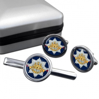 2nd East Anglian Regiment (British Army) Round Cufflink and Tie Clip Set