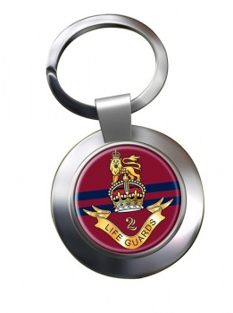 2nd Life Guards (British Army) Chrome Key Ring