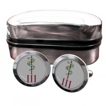 3 Medical Regiment (British Army) Round Cufflinks