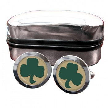 38 (Irish) Brigade (British Army) Round Cufflinks