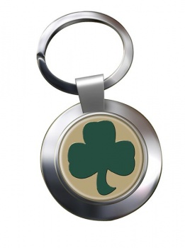 38 (Irish) Brigade (British Army) Chrome Key Ring