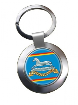 3rd The King's Own Hussars (British Army) Chrome Key Ring
