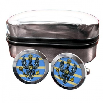 4th-20th King's Hussars (British Army) Round Cufflinks