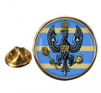 4th-20th King's Hussars (British Army) Round Pin Badge