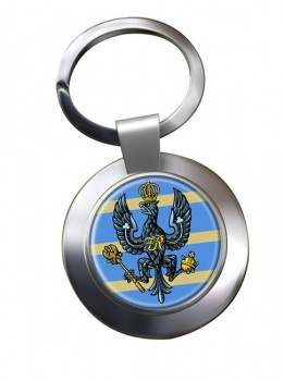 4th-20th King's Hussars (British Army) Chrome Key Ring