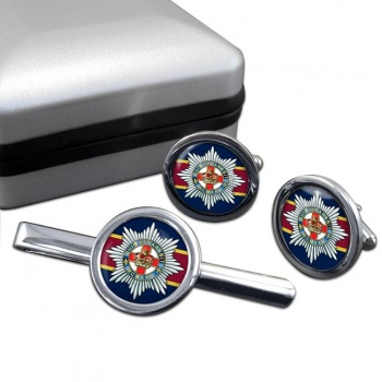 4th-7th Royal Dragoon Guards (British Army) Round Cufflink and Tie Clip Set