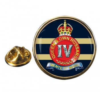 4th Queen's Own Hussars (British Army) Round Pin Badge