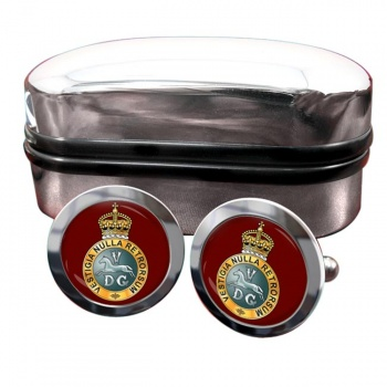 5th Regiment of Dragoons (British Army) Round Cufflinks