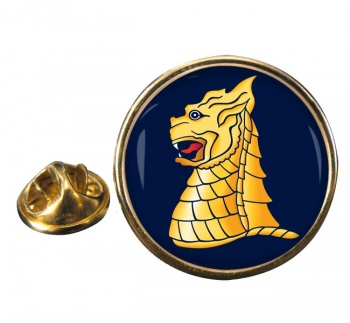 77 Brigade Round Pin Badge