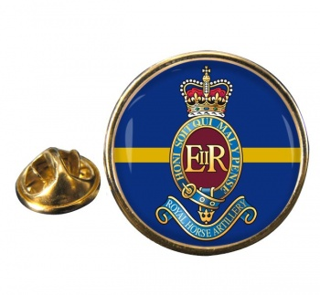 7th Parachute Regiment Royal Horse Artillery (British Army) Round Pin Badge