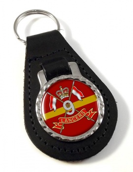 9th Queen's Royal Lancers (British Army) Leather Key Fob