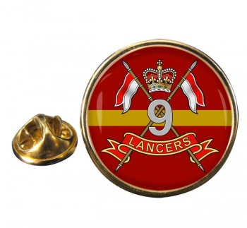 9th Queen's Royal Lancers (British Army) Round Pin Badge