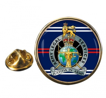 Army Legal Services (British Army) Round Pin Badge