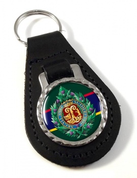 Argyll & Sutherland Highlanders (British Army) Leather Key Fob