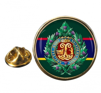 Argyll & Sutherland Highlanders (British Army) Round Pin Badge