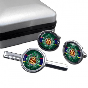 Argyll & Sutherland Highlanders (British Army) Round Cufflink and Tie Clip Set