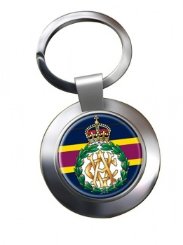 Army Veterinary Corps (British Army) Chrome Key Ring