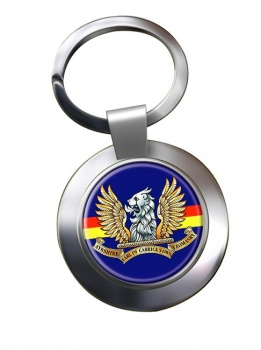 Ayrshire (Earl of Carricks Own) Yeomanry (British Army) Chrome Key Ring