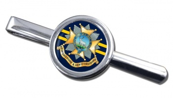 Bedfordshire and Hertfordshire Regiment Round Tie Clip