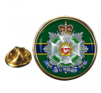 Border Regiment Round Pin Badge