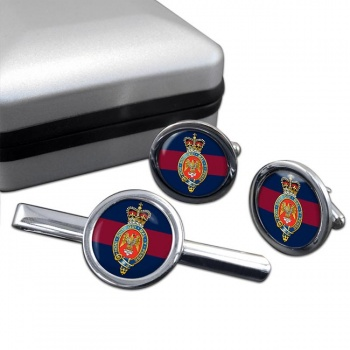 Blues and Royals (British Army) Round Cufflink and Tie Clip Set