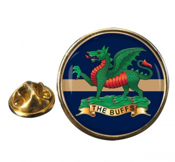 The Buffs (Royal East Kent Regiment) British Army Round Pin Badge
