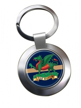 The Buffs (Royal East Kent Regiment) British Army Chrome Key Ring