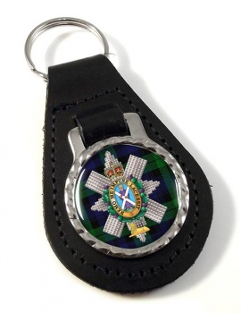 Black Watch (42nd (Royal Highland) Regiment of Foot)  Leather Key Fob