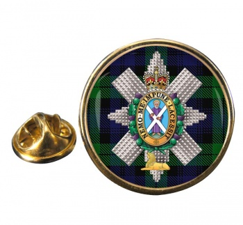 Black Watch (42nd (Royal Highland) Regiment of Foot)  Round Pin Badge