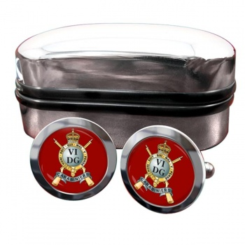 Carabiniers 6th Dragoon Guards (British Army) Round Cufflinks