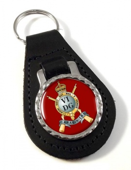 Carabiniers 6th Dragoon Guards (British Army) Leather Key Fob