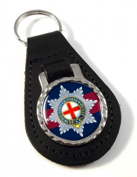 Coldstream Guards (British Army)  Leather Key Fob