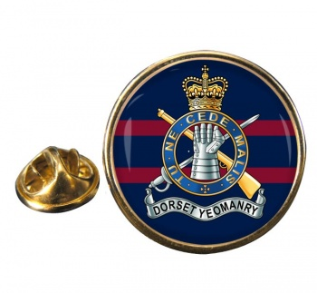 Dorset Yeomanry (British Army) Round Pin Badge