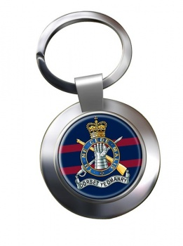 Dorset Yeomanry (British Army) Chrome Key Ring