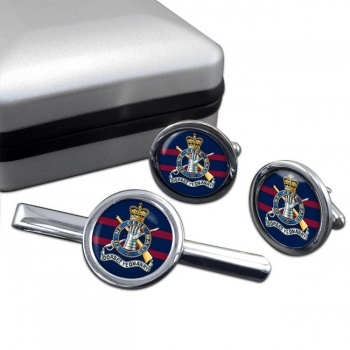 Dorset Yeomanry (British Army) Round Cufflink and Tie Clip Set
