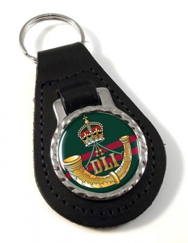 Durham Light Infantry (British Army) Leather Key Fob