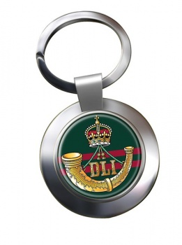 Durham Light Infantry (British Army) Chrome Key Ring