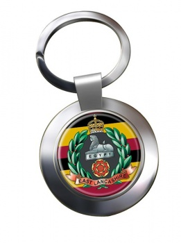 East Lancashire Regiment (British Army) Chrome Key Ring