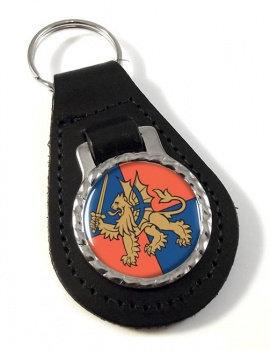 Force Troops Command (British Army) Leather Key Fob