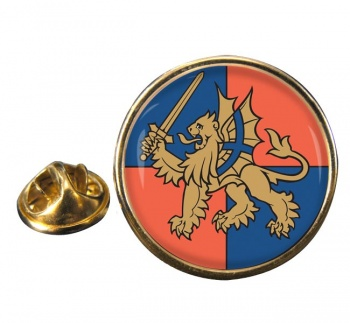 Force Troops Command (British Army) Round Pin Badge