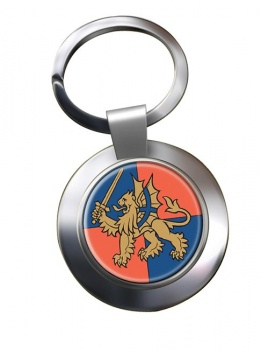 Force Troops Command (British Army) Chrome Key Ring