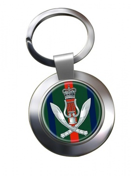 Gurkha Band (British Army) Chrome Key Ring