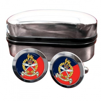 Gurkha Staff and Personnel Support Branch Round Cufflinks