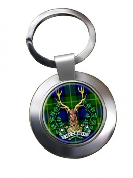 Gordon Highlanders (British Army) Chrome Key Ring