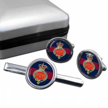 Grenadier Guards (British Army) Cypher Round Cufflink and Tie Clip Set