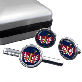 Honourable Artillery Company Round Cufflink and Tie Clip Set